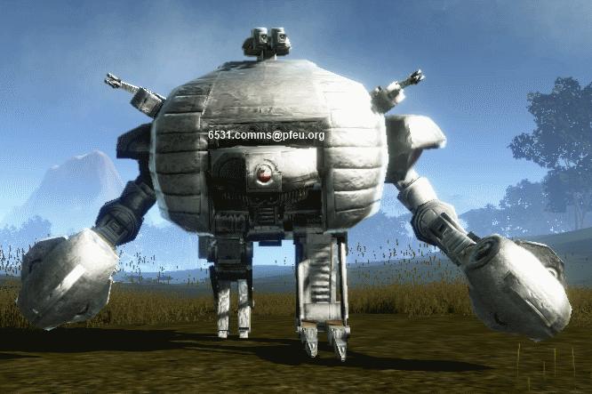 Big bulk close assault robot charging in, in full swing...