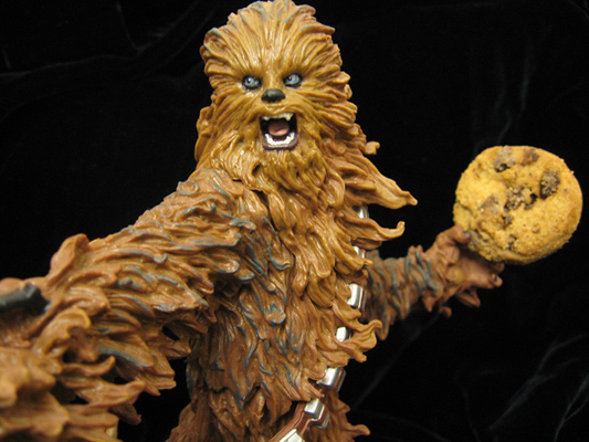 A wookie with a cookie
